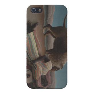 Henri Rousseau - el gitano durmiente iPhone 5 Carcasa