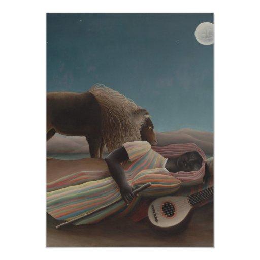 Henri Rousseau - el gitano durmiente Invitación Personalizada