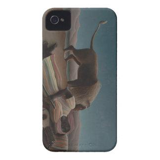Henri Rousseau - el gitano durmiente iPhone 4 Carcasa