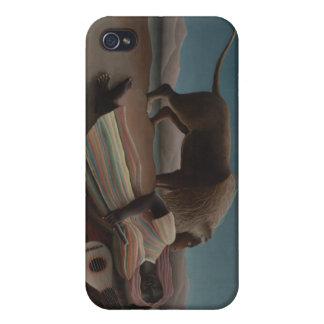 Henri Rousseau - el gitano durmiente iPhone 4 Carcasas