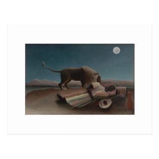 Henri Rousseau - el gitano durmiente Postales