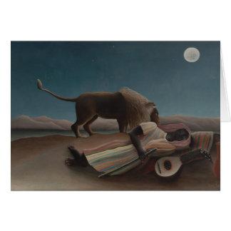 Henri Rousseau - el gitano durmiente Tarjeta De Felicitación