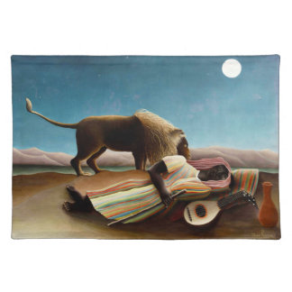 Henri Rousseau el Placemat gitano durmiente Mantel