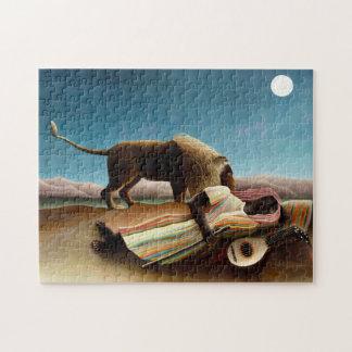 Henri Rousseau el rompecabezas gitano el dormir