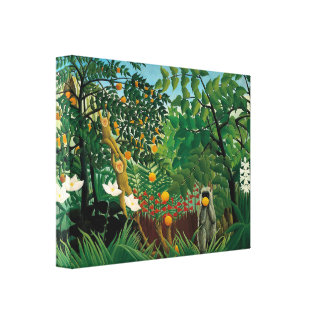 Henri Rousseau Exotic Landscape Canvas Print