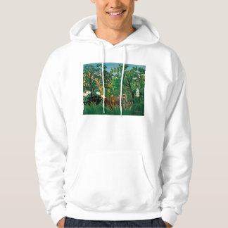 Henri Rousseau Exotic Landscape Hoodie