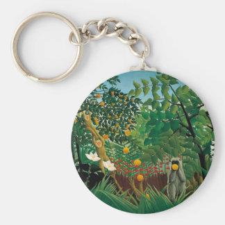 Henri Rousseau Exotic Landscape Keychain