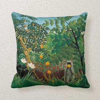 Henri Rousseau Exotic Landscape Pillow