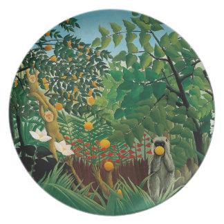 Henri Rousseau Exotic Landscape Plate