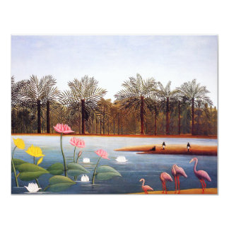 Henri Rousseau Flamingoes Invitations