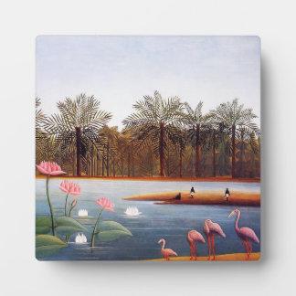 Henri Rousseau Flamingoes Plaque
