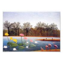 Henri Rousseau Flamingoes Print