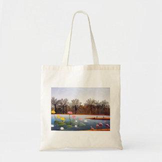 Henri Rousseau Flamingoes Tote Bag