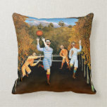 Henri Rousseau - Football Players Pillow