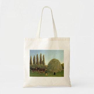 Henri Rousseau- In the Fields Tote Bag