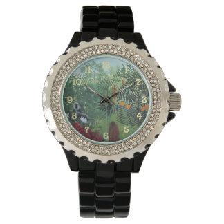 Henri Rousseau Jungle Scene with Monkeys Wrist Watch