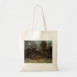 Henri Rousseau- Jungle with Lion Canvas Bags