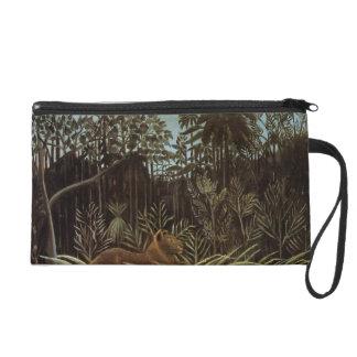 Henri Rousseau- Jungle with Lion Wristlets