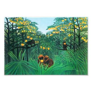 Henri Rousseau la impresión de las zonas tropicale Fotografía