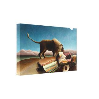 Henri Rousseau la impresión gitana de la lona el d Lona Envuelta Para Galerías