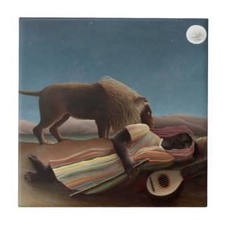 Henri Rousseau la noche gitana de la luna del león Tejas Ceramicas