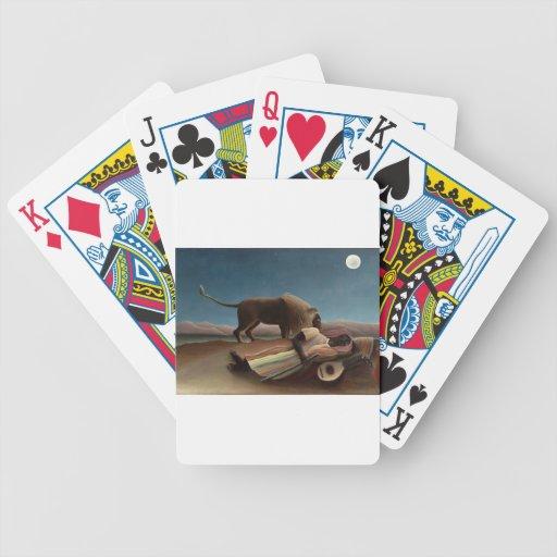 Henri Rousseau la noche gitana de la luna del león Baraja Cartas De Poker
