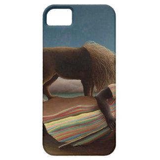 Henri Rousseau la noche gitana de la luna del león iPhone 5 Coberturas