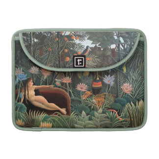Henri Rousseau la selva del sueño florece arte ing Funda Para Macbook Pro