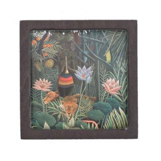 Henri Rousseau la selva del sueño florece Caja De Joyas De Calidad