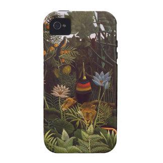 Henri Rousseau la selva del sueño florece el león  Case-Mate iPhone 4 Carcasa