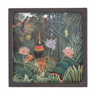 Henri Rousseau la selva del sueño florece la Cajas De Recuerdo De Calidad