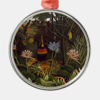 Henri Rousseau la selva del sueño florece la Adorno Redondo Plateado