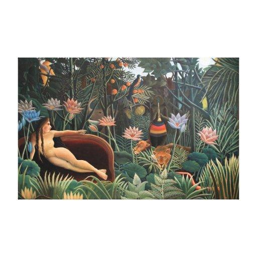 Henri Rousseau la selva del sueño florece la Lienzo Envuelto Para Galerias