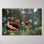 Henri Rousseau la selva del sueño florece la Posters