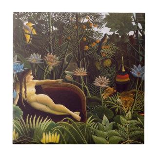 Henri Rousseau la selva del sueño florece la pintu Azulejos