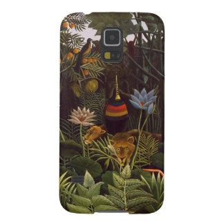Henri Rousseau la selva del sueño florece la pintu Carcasas De Galaxy S5