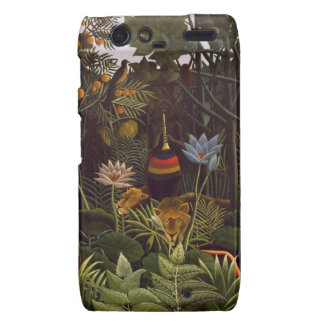 Henri Rousseau la selva del sueño florece la pintu Droid RAZR Funda