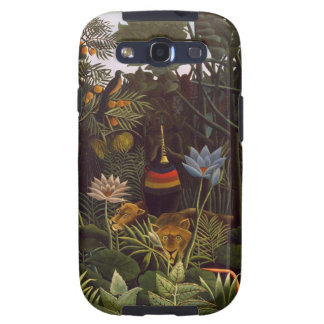 Henri Rousseau la selva del sueño florece la pintu Samsung Galaxy S3 Protectores