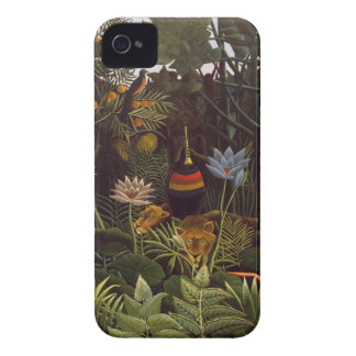 Henri Rousseau la selva del sueño florece la pintu iPhone 4 Fundas