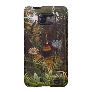 Henri Rousseau la selva del sueño florece la pintu Galaxy S2 Fundas