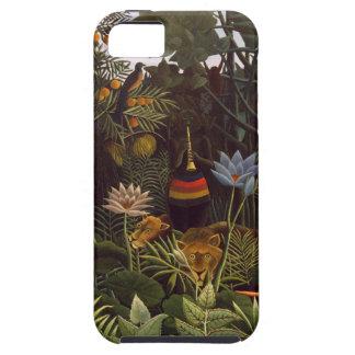 Henri Rousseau la selva del sueño florece la pintu iPhone 5 Case-Mate Cárcasa
