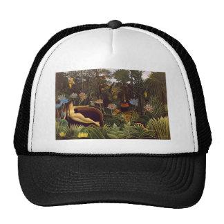 Henri Rousseau la selva del sueño florece la pintu Gorras De Camionero