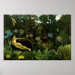 Henri Rousseau la selva del sueño florece la pintu Posters