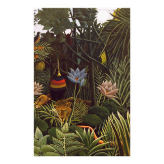 Henri Rousseau la selva del sueño florece la pintu Papelería Personalizada