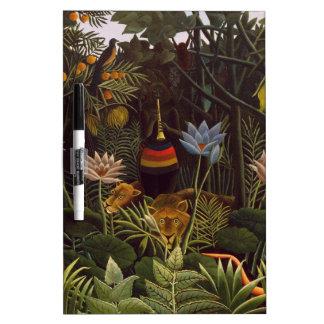 Henri Rousseau la selva del sueño florece la pintu Tablero Blanco