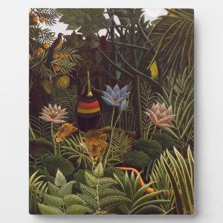 Henri Rousseau la selva del sueño florece la pintu Placas
