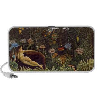 Henri Rousseau la selva del sueño florece la pintu Portátil Altavoz