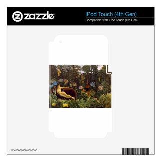 Henri Rousseau la selva del sueño florece la pintu iPod Touch 4G Skins