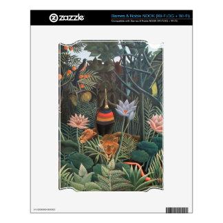 Henri Rousseau la selva del sueño florece la pintu Calcomanías Para NOOK