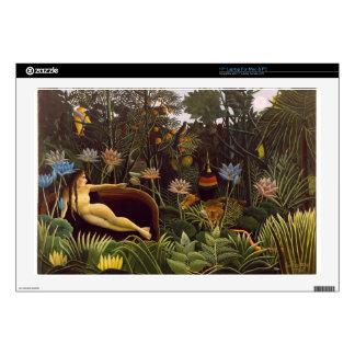 Henri Rousseau la selva del sueño florece la pintu Calcomanía Para 43,2cm Portátil